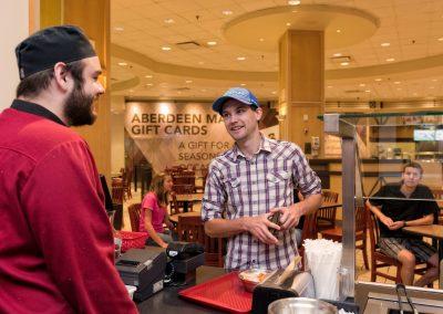 Aberdeen Mall restaurant advertising photo shoot