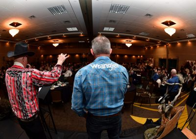 Auctioneer at the BC Wildlife Federation Convention in Kamloops, BC
