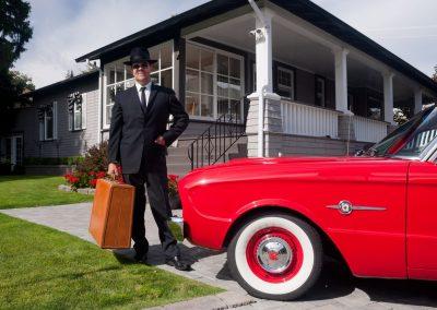 Private client classic car photo shoot