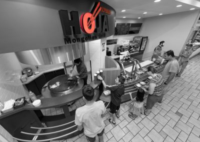 Hoja restaurant advertising photo shoot