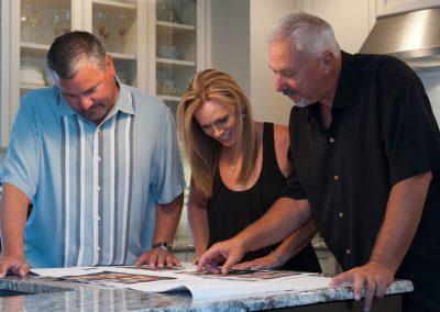 DW Builders client consultation photo shoot