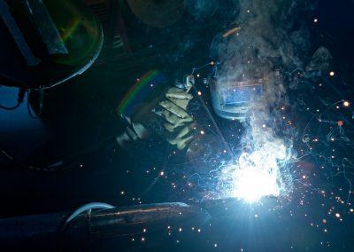 TRU Trades Welding shop Industrial photo shoot