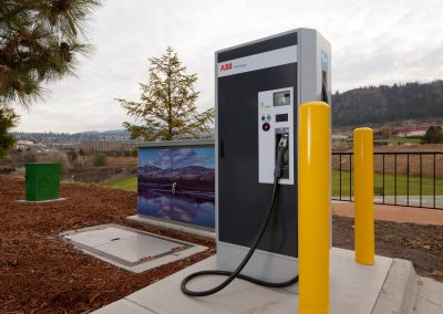 ABB International electric vehicle charging station