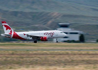 Air Canada Rouge Inaugural Flight To Kamloops