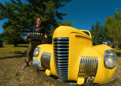 Commercial photoshoot of Kamloops Vintage car show special event