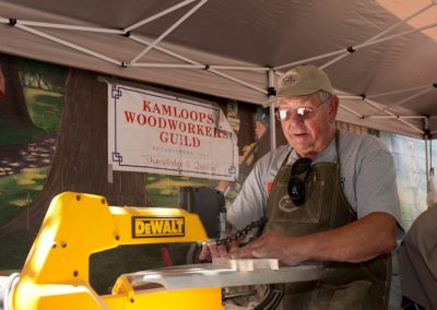 Woodworker at Kamloops Canada Day