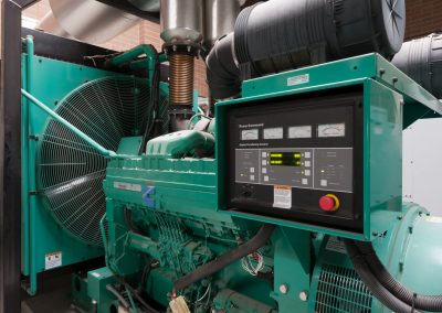 Industrial photoshoot of auxiliary generator power station