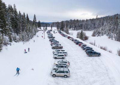 Commercial photoshoot for Overlander Ski Club