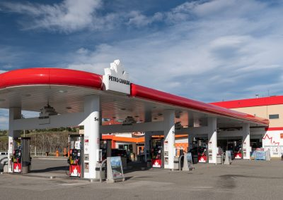 Commercial photoshoot of Suncor Petro-Can Travel Centre